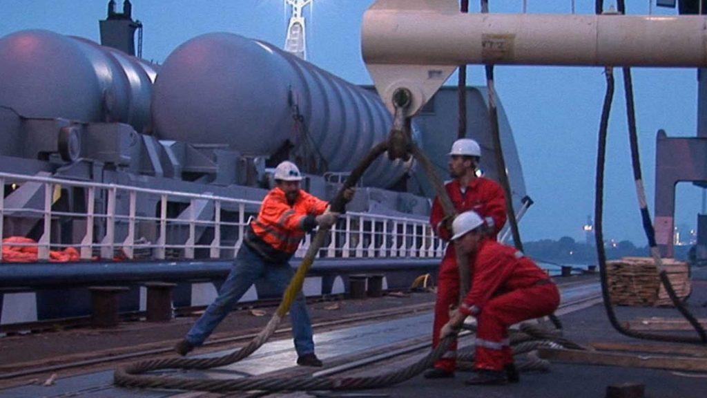 Hafenarbeiter in Emden